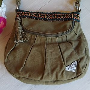 Roxy Army-Green Adorable Crossbody